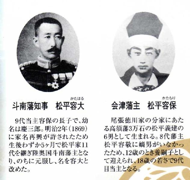 会津 藩主